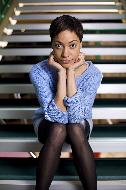 22.04.13 Actress Cush Jumbo for The Times. Photo credit : Phil Tragen